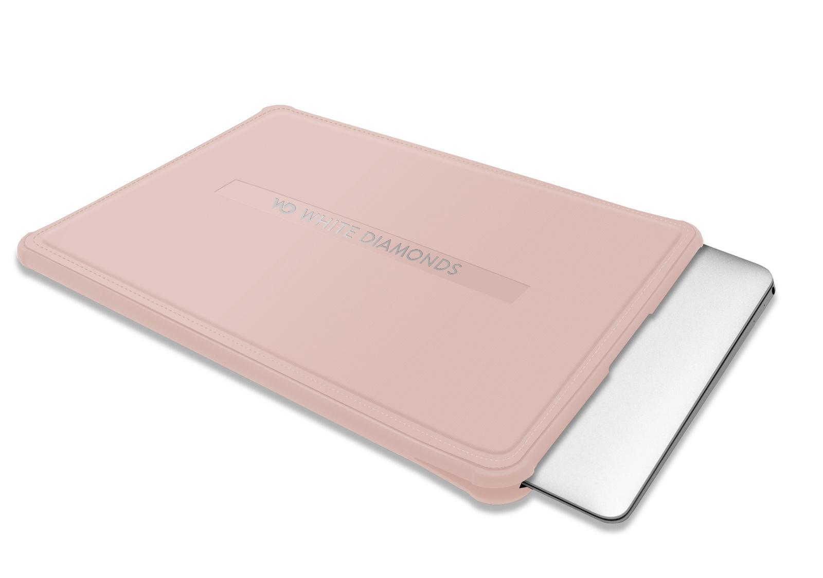 """Чехол MacBook Sleeve Clear 12"""" для MacBook 12"""" / Air 11"""" (2014) / Air 11.6"""" (2015), розовое золото"""