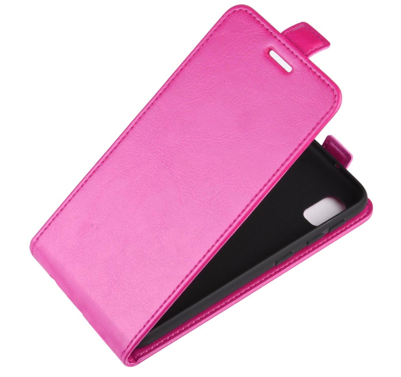 Чехол-флип MyPads для Samsung Galaxy S3 Mini вертикальный откидной розовый