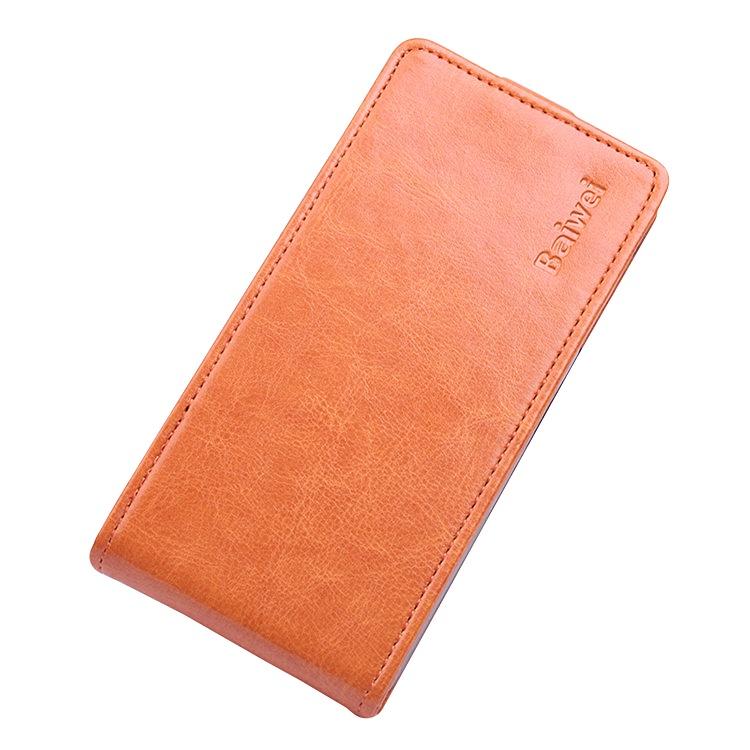 Чехол-флип MyPads для Sony Xperia Z3 Compact D5803 вертикальный откидной оранжевый