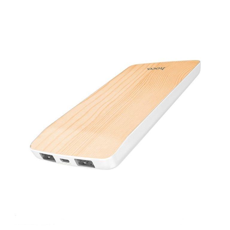 лучшая цена Внешний аккумулятор HOCO J5 8000mAh дерево (груша)