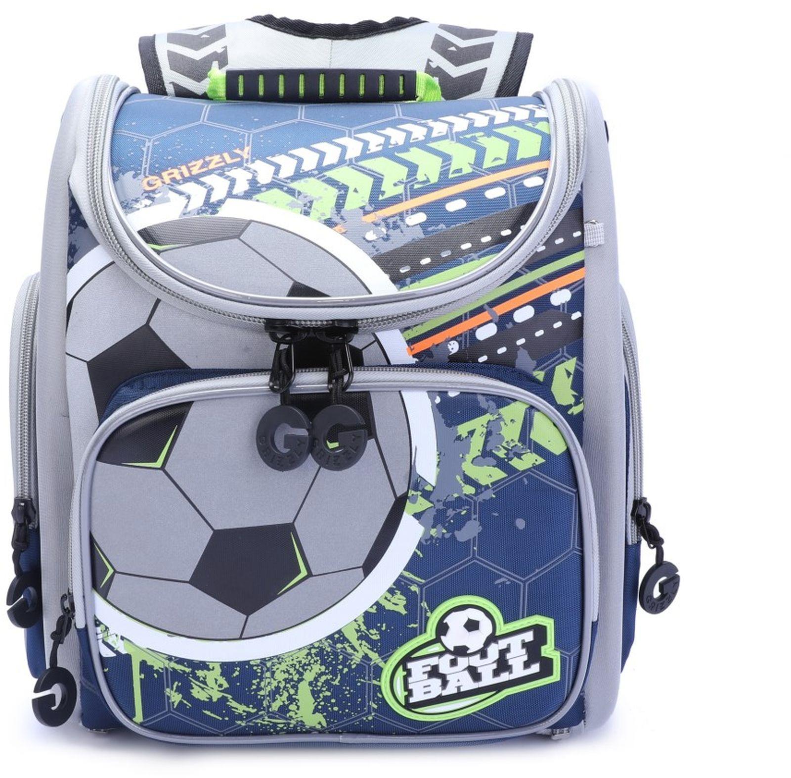 Рюкзак школьный Grizzly, RA-970-1/1, салатовый, черный