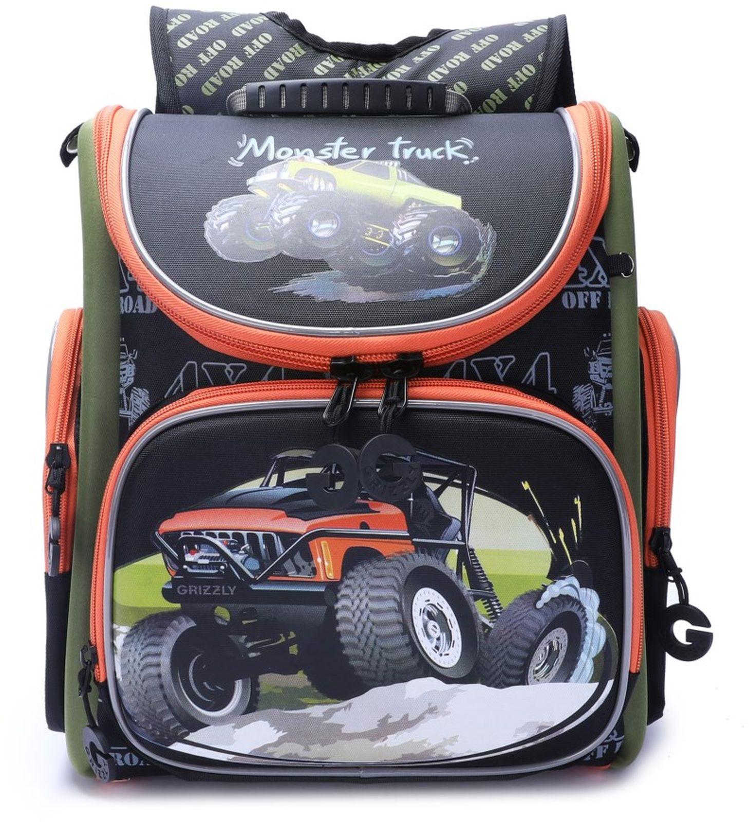 Рюкзак школьный Grizzly, RA-970-2/1, черный