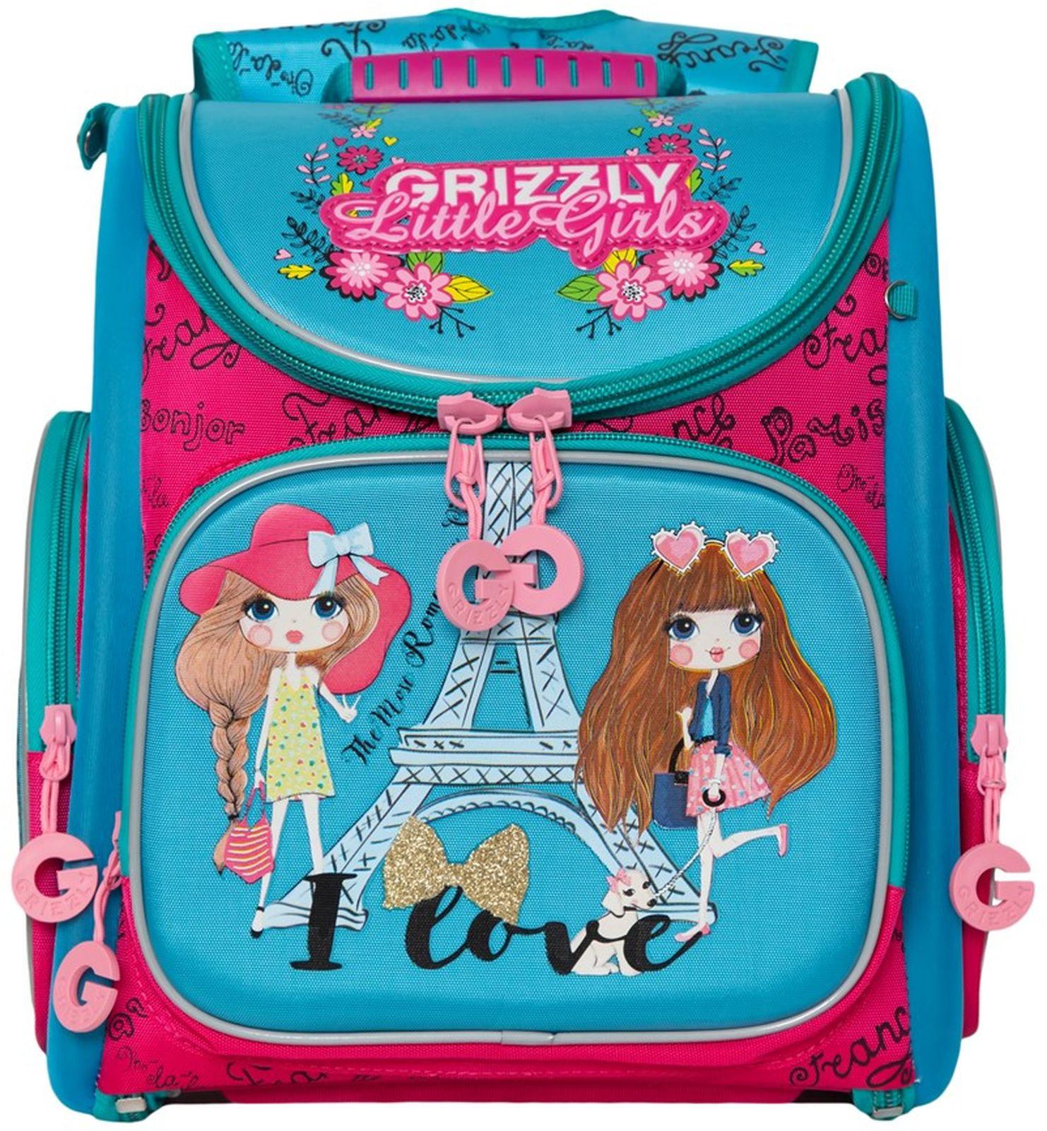 Фото - Рюкзак школьный Grizzly Жимолость, RA-971-2/1, голубой рюкзак школьный grizzly ra 780 1 1