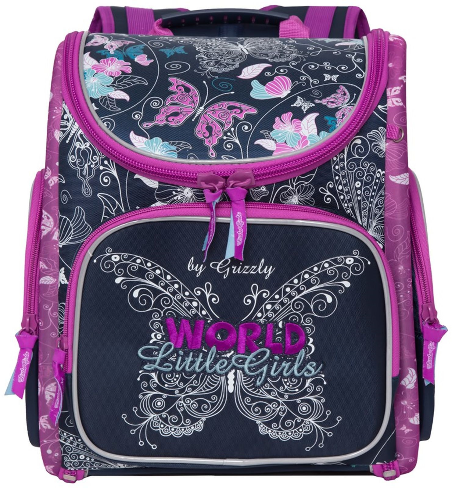 Рюкзак школьный Grizzly, RA-971-9/1, темно-синий
