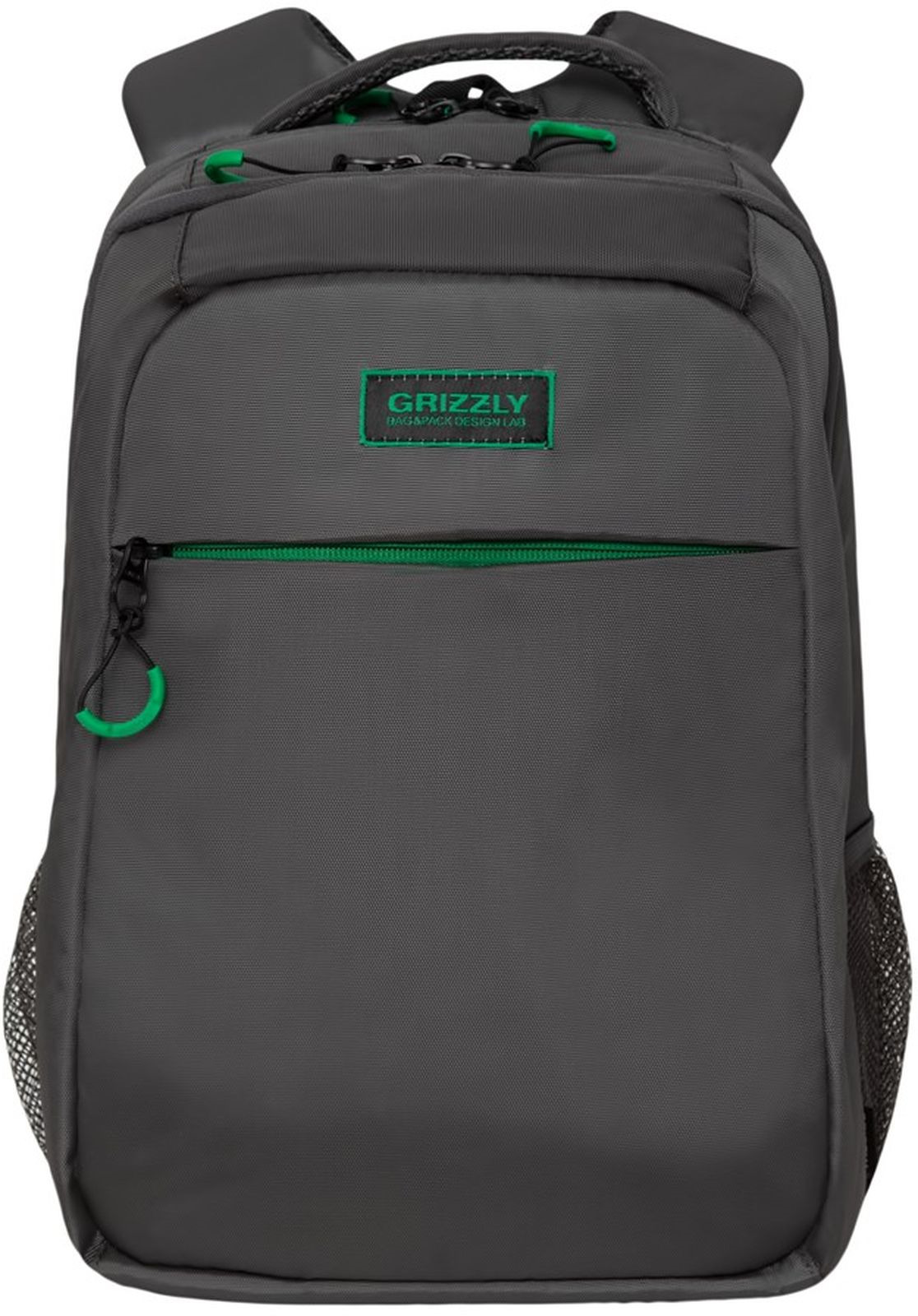 Рюкзак Grizzly, RU-933-2/1, темно-серый рюкзак молодежный grizzly 16 л ru 808 2 2