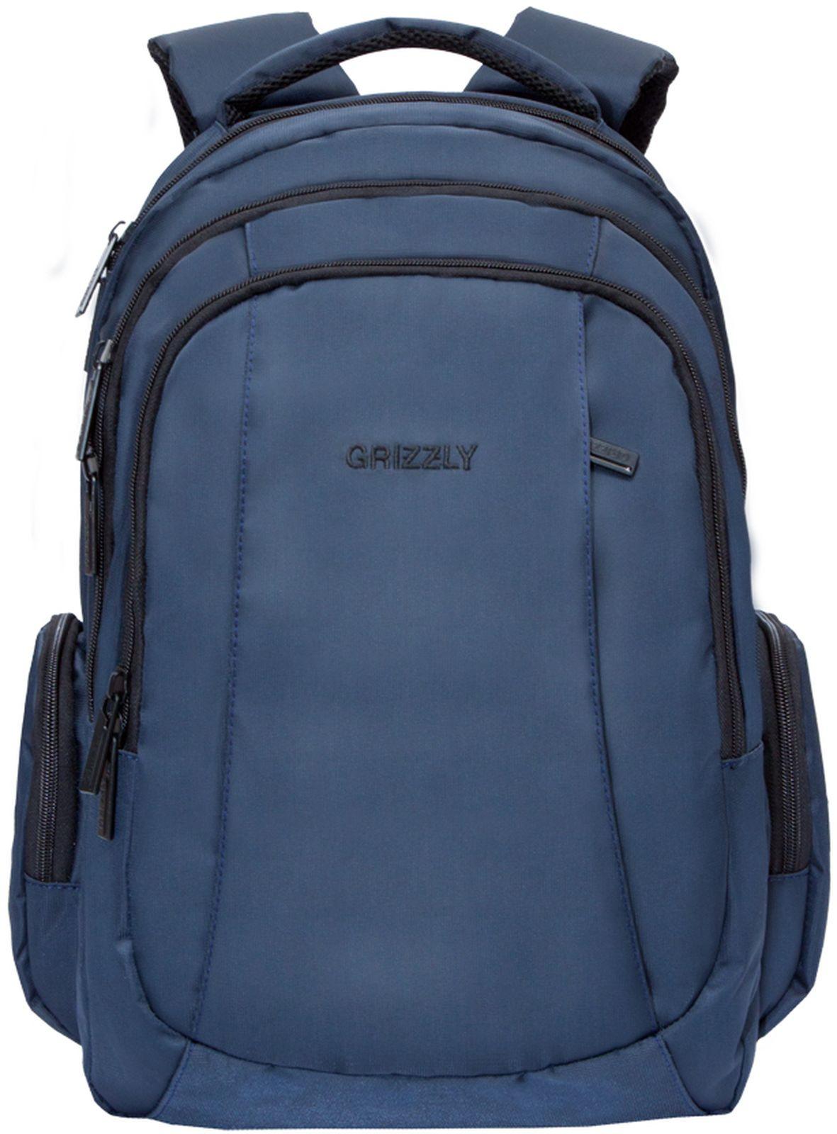 Рюкзак Grizzly, RU-934-2/2, синий рюкзак молодежный grizzly 16 л ru 808 2 2