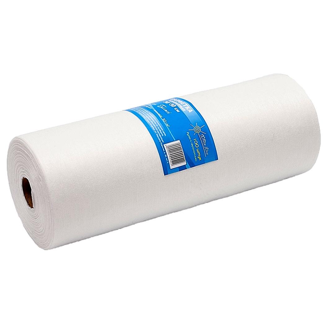 Салфетки одноразовые с перфорацией нетканные Белая Линия 100 шт. салфетки бумажные nega нетканные без отдушки 50 шт
