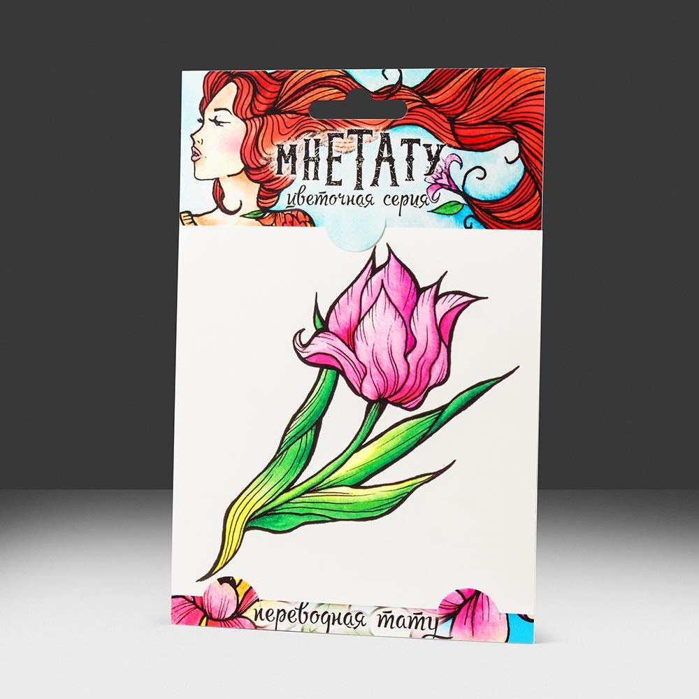 Переводная татуировка Тюльпан цветы тату ktr5djhr