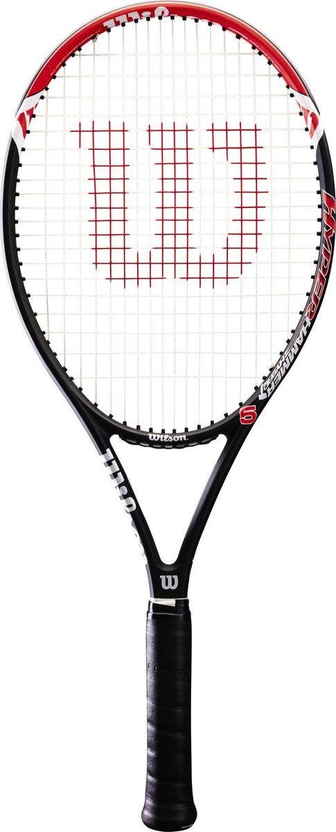 Ракетка для большого тенниса Wilson Hyper Hammer 5 Tns Rkt Wo Cvr 2, WRT57290U2, красный, черный