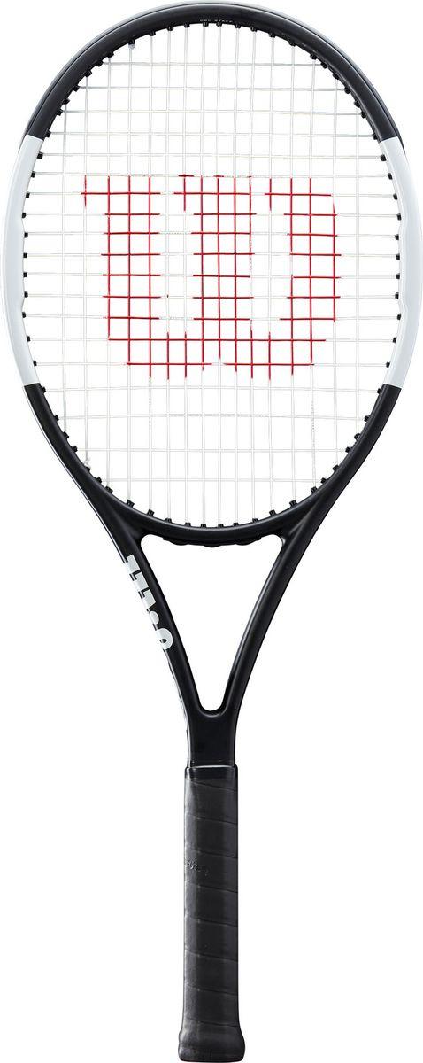 Ракетка для тенниса Wilson Pro Staff Team Rkt 3, WR000610U3, черный, белый ракетка теннисная для взрослых drive team