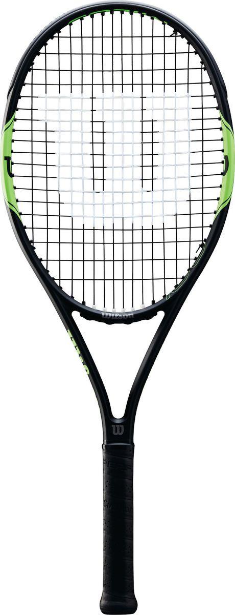 Ракетка для тенниса Wilson Milos Tour 100 Tns Rkt W/O Cvr 2, WRT57370U2, черный, зеленый