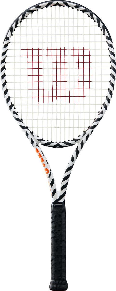 Ракетка для большого тенниса Wilson Burn 100Ls Bold Edition Frm 2, WR001511U2, черный, белый