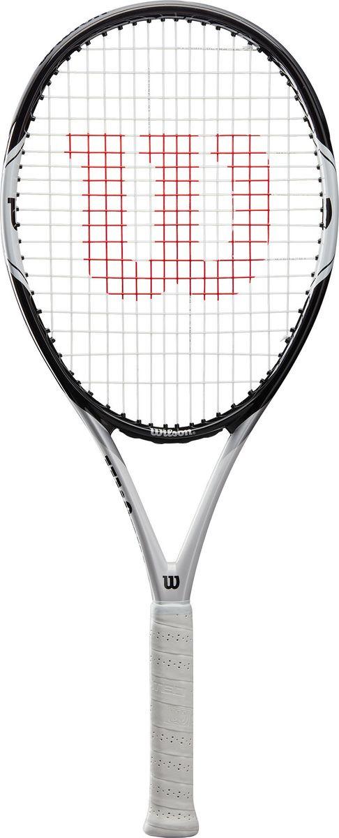 Ракетка для большого тенниса Wilson Federer Pro 105 Rkt W/O Cvr 2, WRT56610U2, черный, белый цена