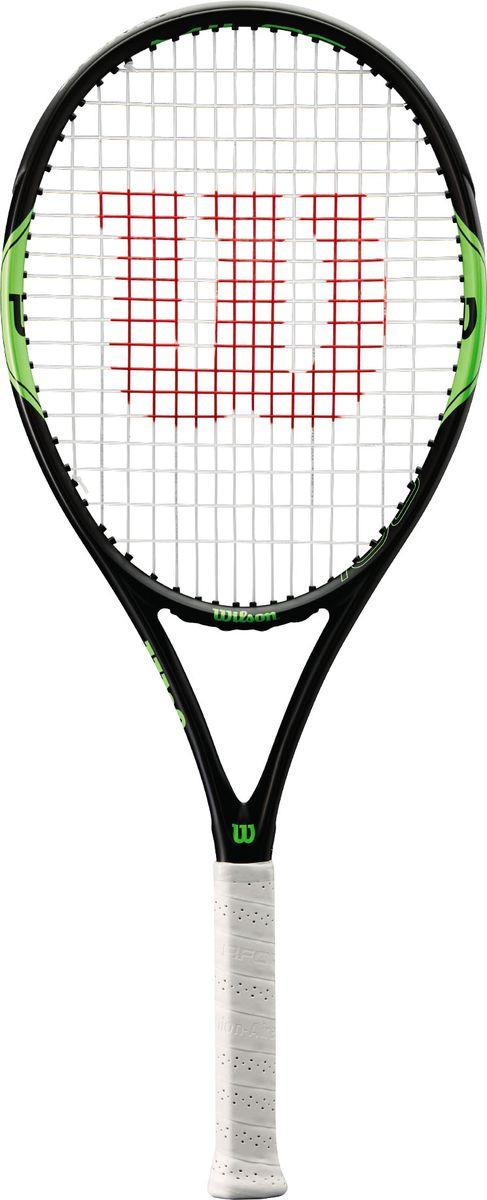 Ракетка для тенниса Wilson Milos Lite 105 Tns Rkt W/O Cvr 1, WRT30830U1, черный, зеленый