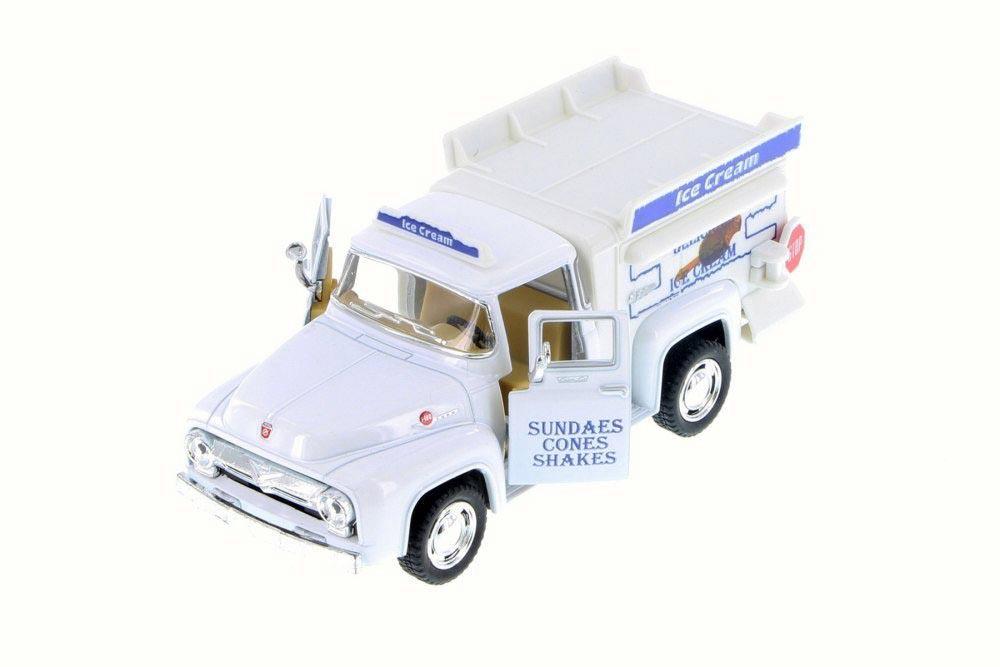 Машинка металлическая с открывающимися дверями, модель 1956 Ford F-100 Pickup Ice Cream Truck