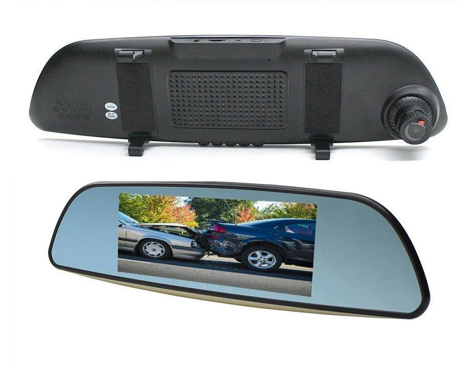 Видеорегистратор-зеркало с 2-мя камерами Eplutus D69 видеорегистратор с 2 камерами