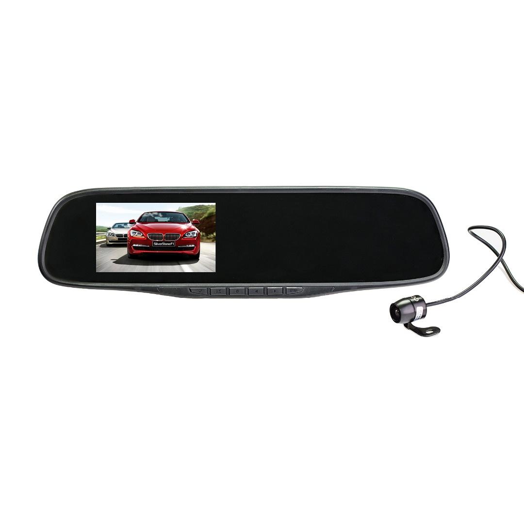 Видеорегистратор в зеркале заднего вида и камерой SilverStone F1 NTK-351Duo видеорегистратор зеркало с камерой заднего вида отзывы какой лучше