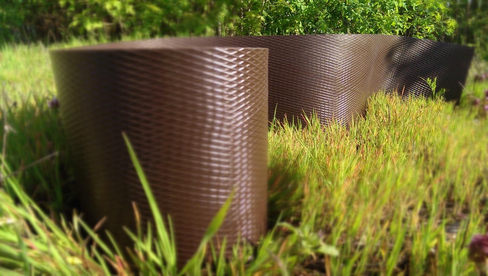 Бордюрная лента коричневая 15Х900см, толщина 1,6мм. Полюс Ленты (Беларусь)