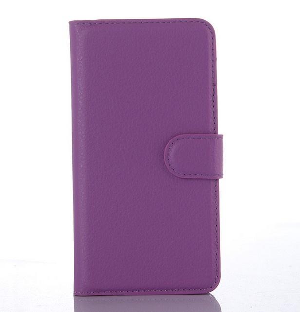 Чехол MyPads для Huawei Honor 7i Dual Sim с мульти-подставкой застёжкой и визитницей фиолетовый