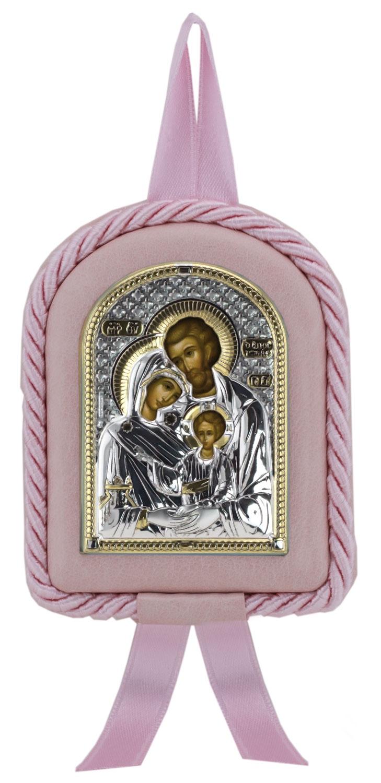 Икона детская Св.Семейство роз (7*9)
