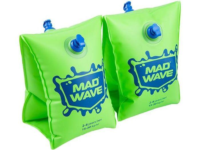 Нарукавники детские MadWave, M0756 03 0 10W, зеленый, синий, 0-2 года недорого