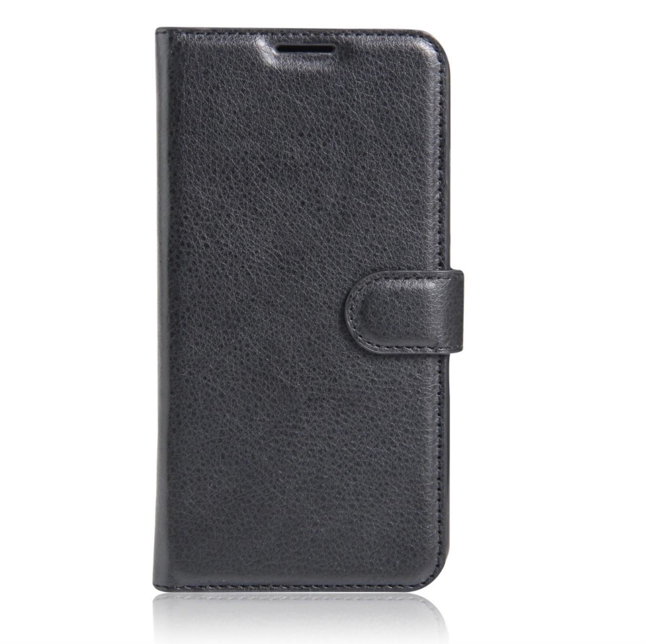 Чехол MyPads для Huawei Honor 6 plus с мульти-подставкой застёжкой и визитницей черный