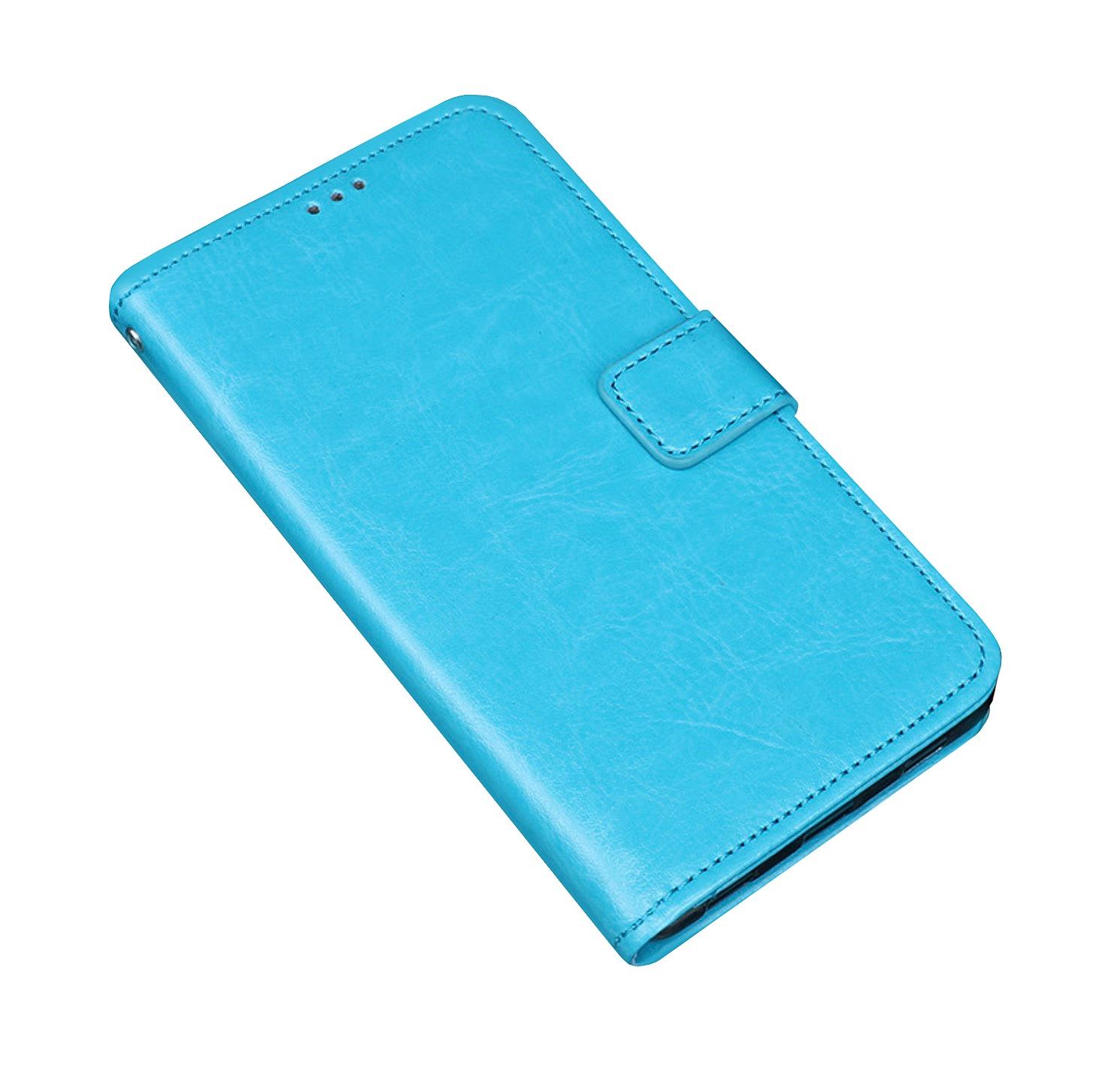 Чехол MyPads для Xiaomi Redmi Note 7 с мульти-подставкой застёжкой и визитницей бирюзовый