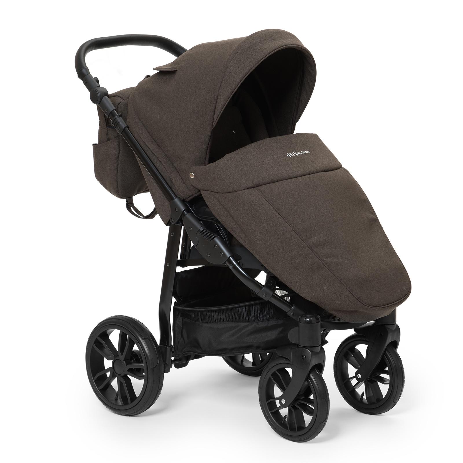 Коляска прогулочная Mr Sandman Vortex, цвет: коричневый коляска mr sandman guardian 2 в 1 графит серый kmsg 043601
