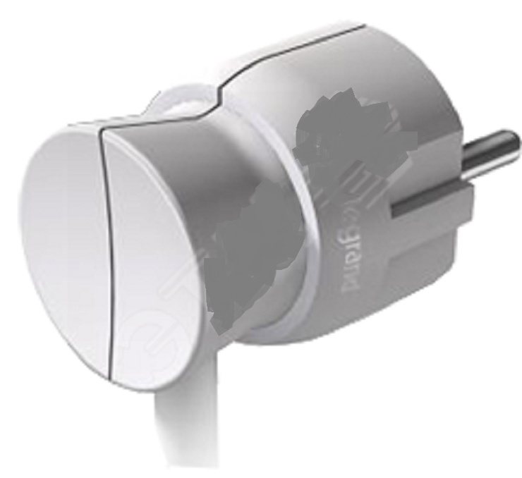 Элиум Вилка 2К+З с заземлением 16А белая разветвитель 2 гнезда с з 16а legrand