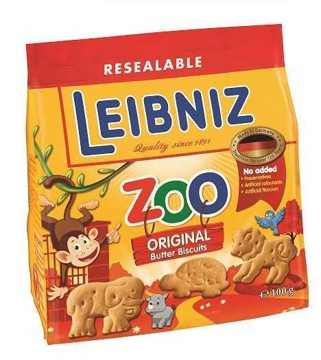 Печенье Leibniz Zoo original, 100г
