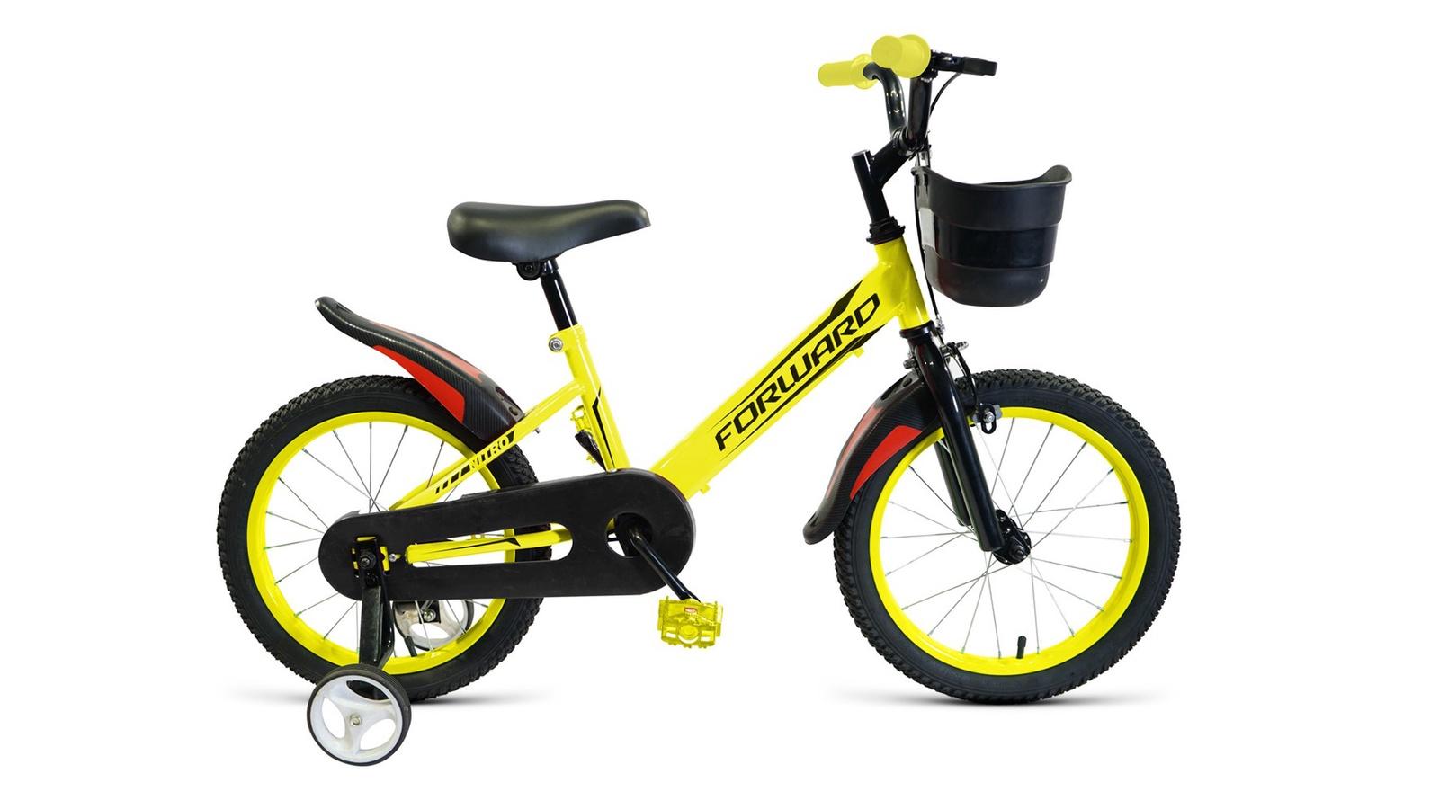 Велосипед Forward Nitro 16 2019 желтый велосипед forward nitro 14 2019