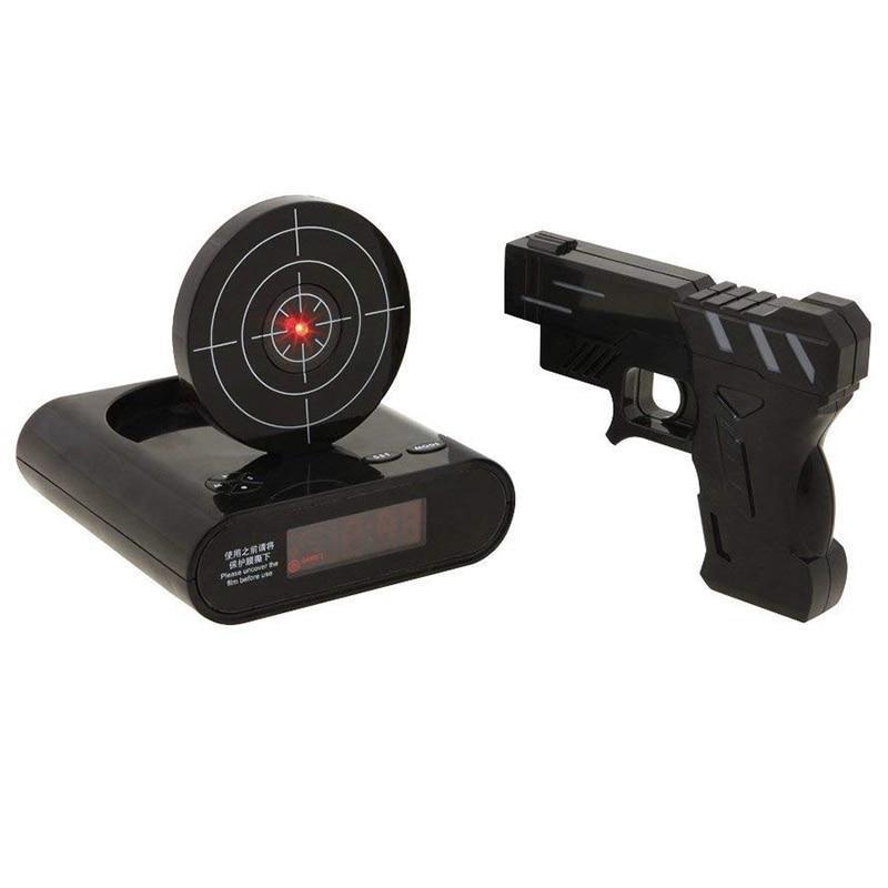Электронный будильник Будильник мишень с пистолетом