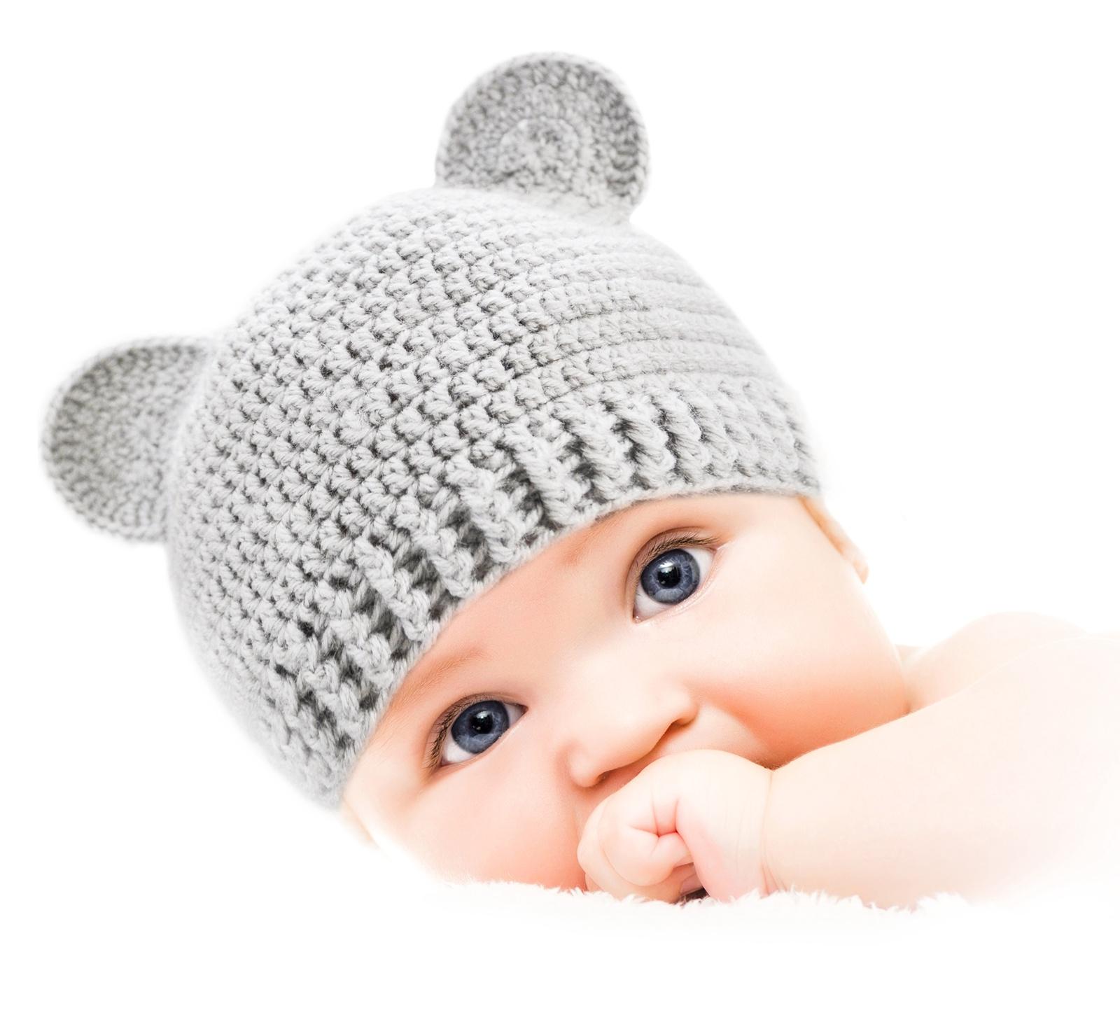 """Шапочка для детей и новорожденных от 0 до 3 лет """"Мишка"""" (набор для вязания)"""