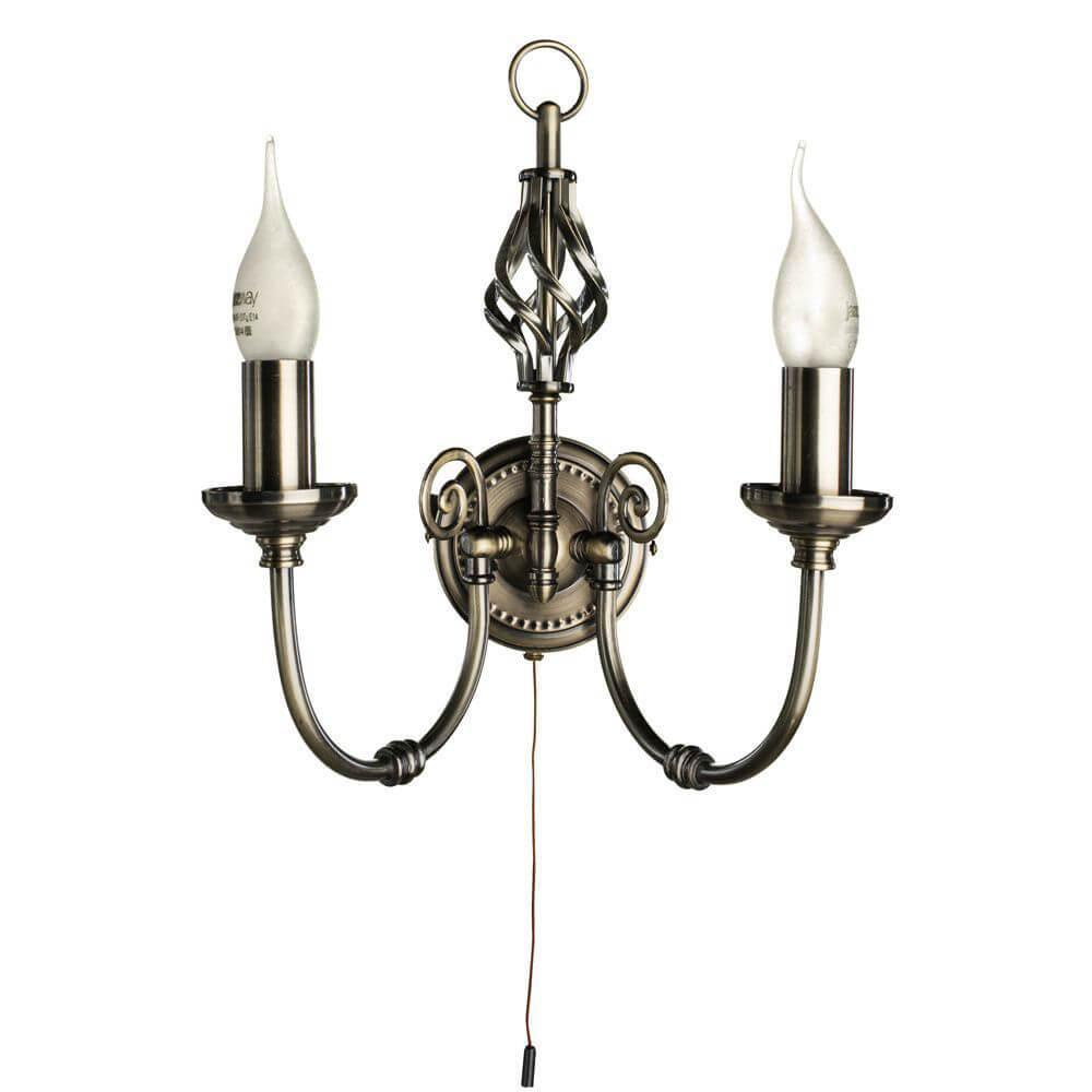 лучшая цена Бра Arte Lamp A8392AP-2AB, E14, 60 Вт