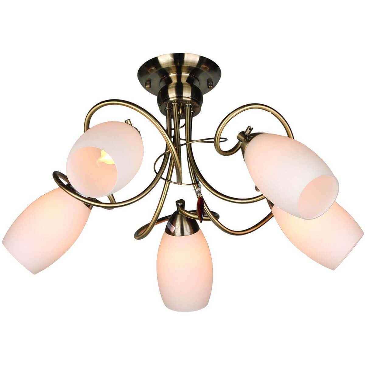 Потолочный светильник Omnilux OML-37227-05, E14, 60 Вт