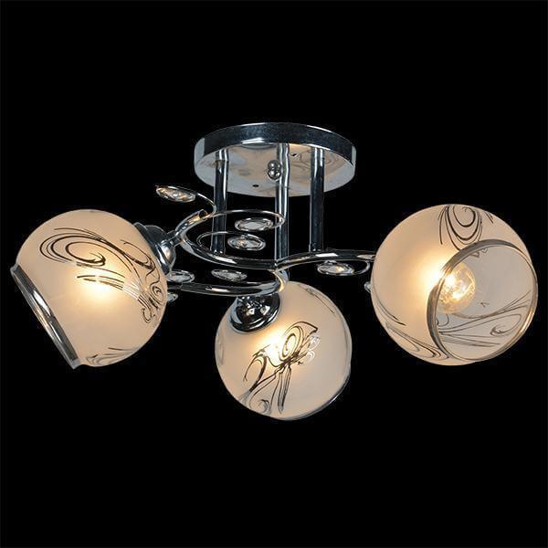 Потолочный светильник EUROSVET 30031/3 хром, E27, 60 Вт eurosvet los 366