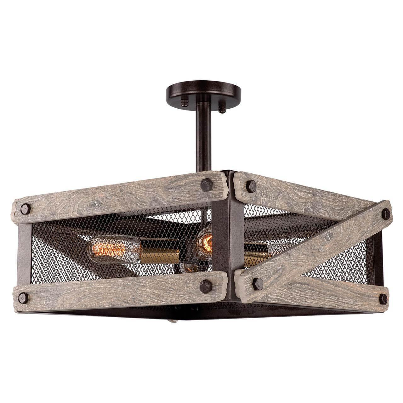 Потолочный светильник Lussole LOFT LSP-9704, E27, 60 Вт потолочная люстра lussole loft lsp 9704