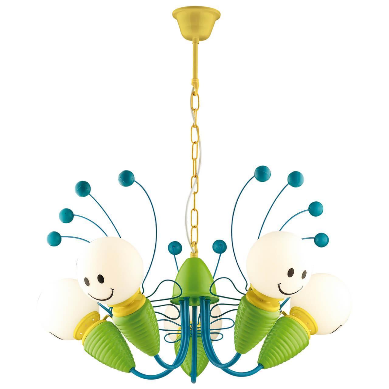 Подвесной светильник Odeon Light 2633/5, E14, 40 Вт odeon light 2633 1w odl14 737 зел син желтый бра с выкл e14 40w 220v trolo