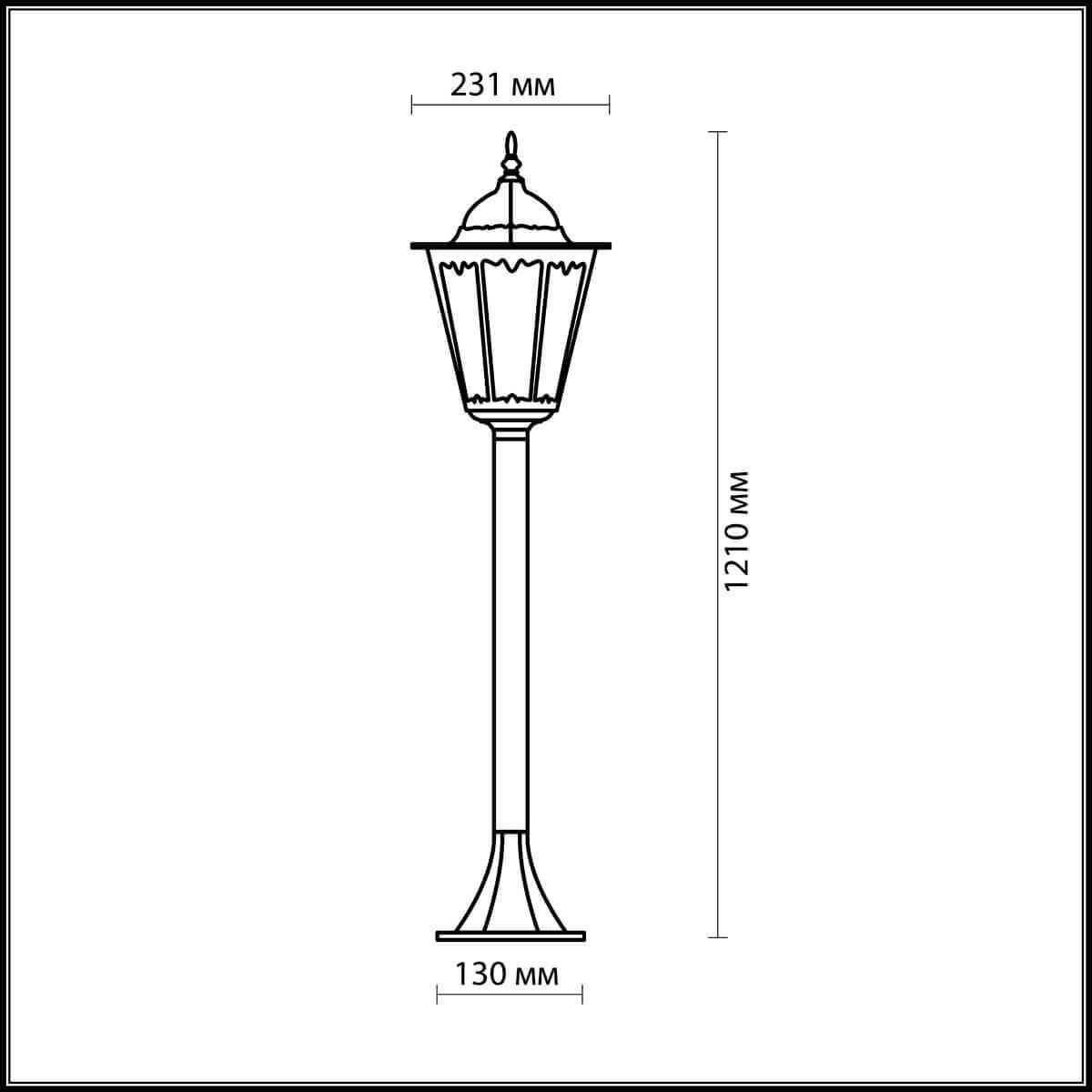 Уличный светильник Odeon Light 2322/1F, E27 Odeon Light