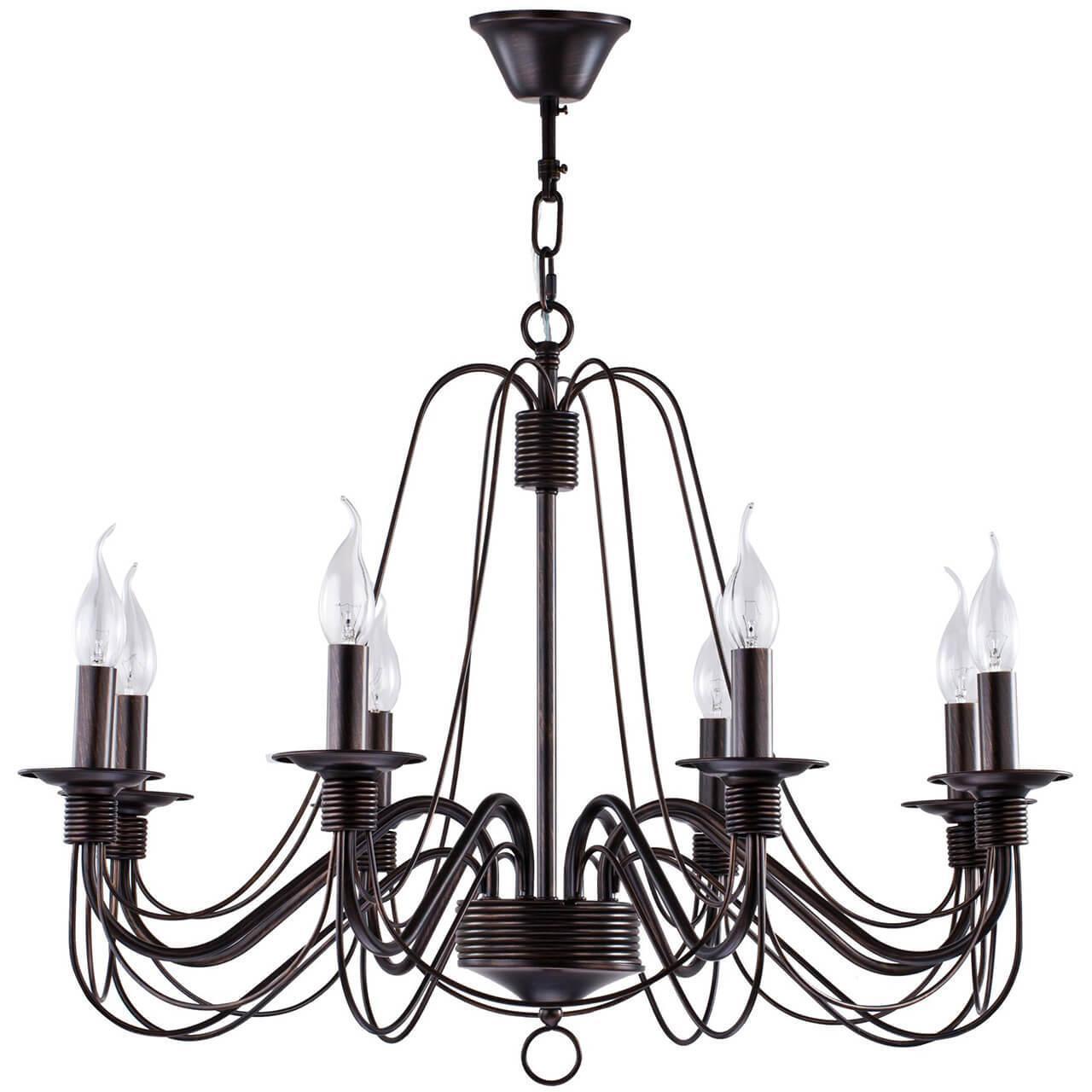 Подвесной светильник Freya FR2046-PL-08-BR, E14, 60 Вт светильник freya fr3403 pl 08 wg