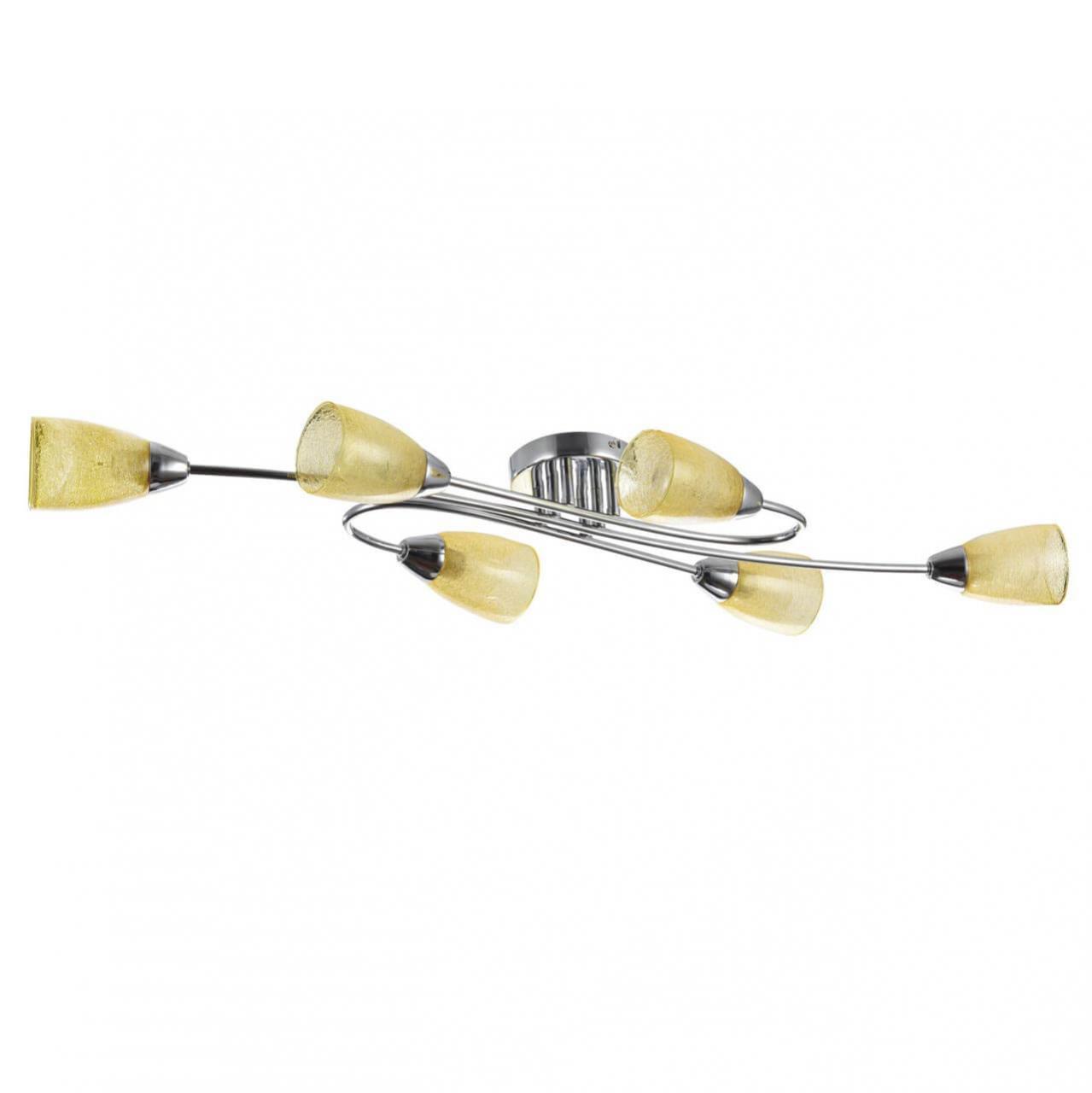 Потолочный светильник Freya FR5104-CL-06-YE, E14, 40 Вт люстра freya freya fr5104 cl 06 ye