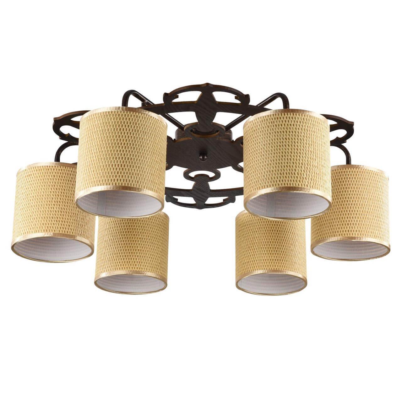Потолочный светильник Freya FR5100-CL-06-BR, E14, 40 Вт потолочная люстра freya fr5100 cl 08 br