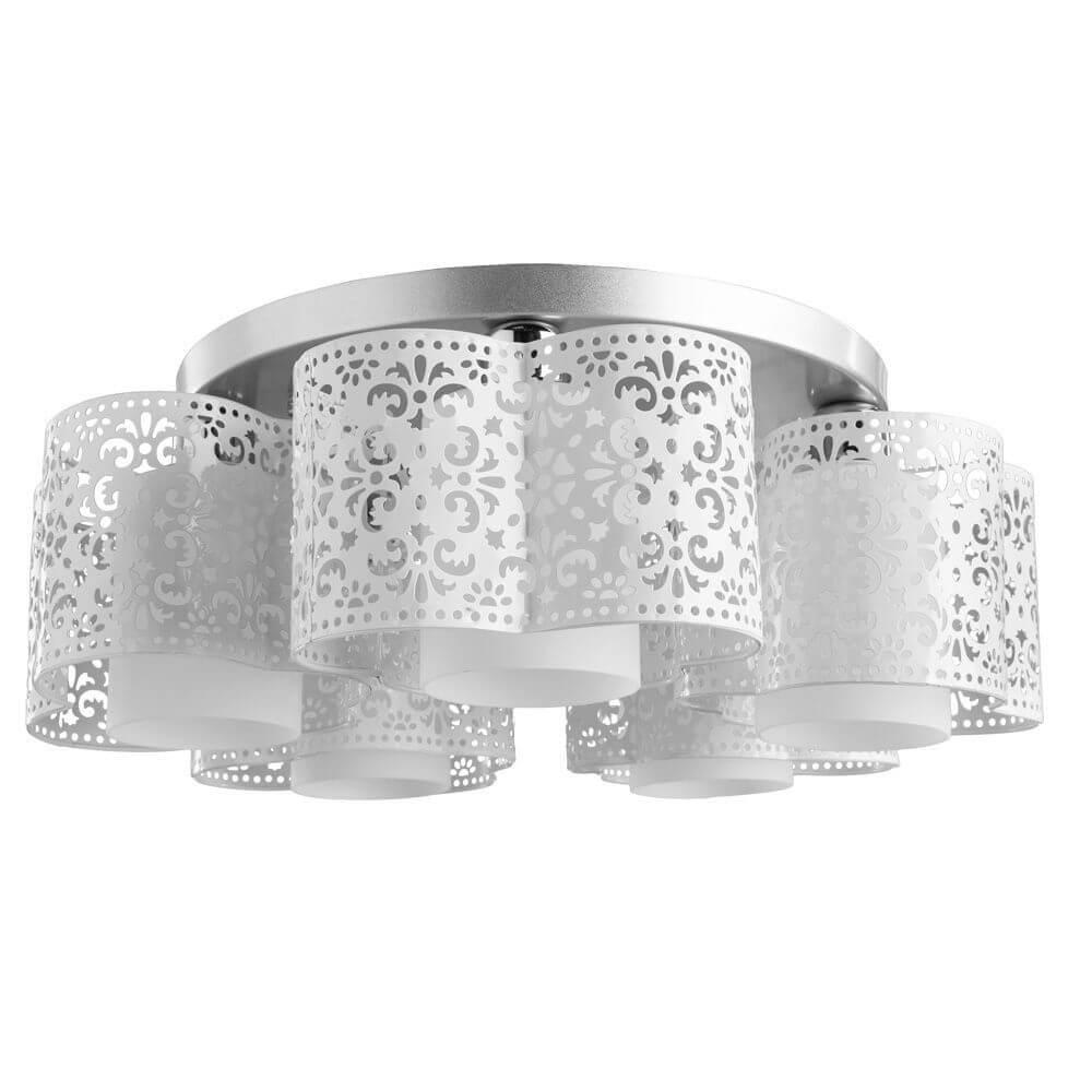 Потолочный светильник Arte Lamp A8348PL-5WH, E27, 40 Вт потолочный светильник arte lamp a8348pl 5wh белый