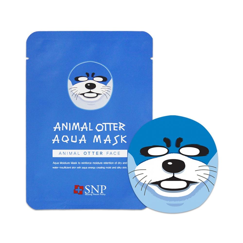 SNP тканевая маска увлажняющая с рисунком Выдра Animal Otter Aqua Mask, 30 мл.
