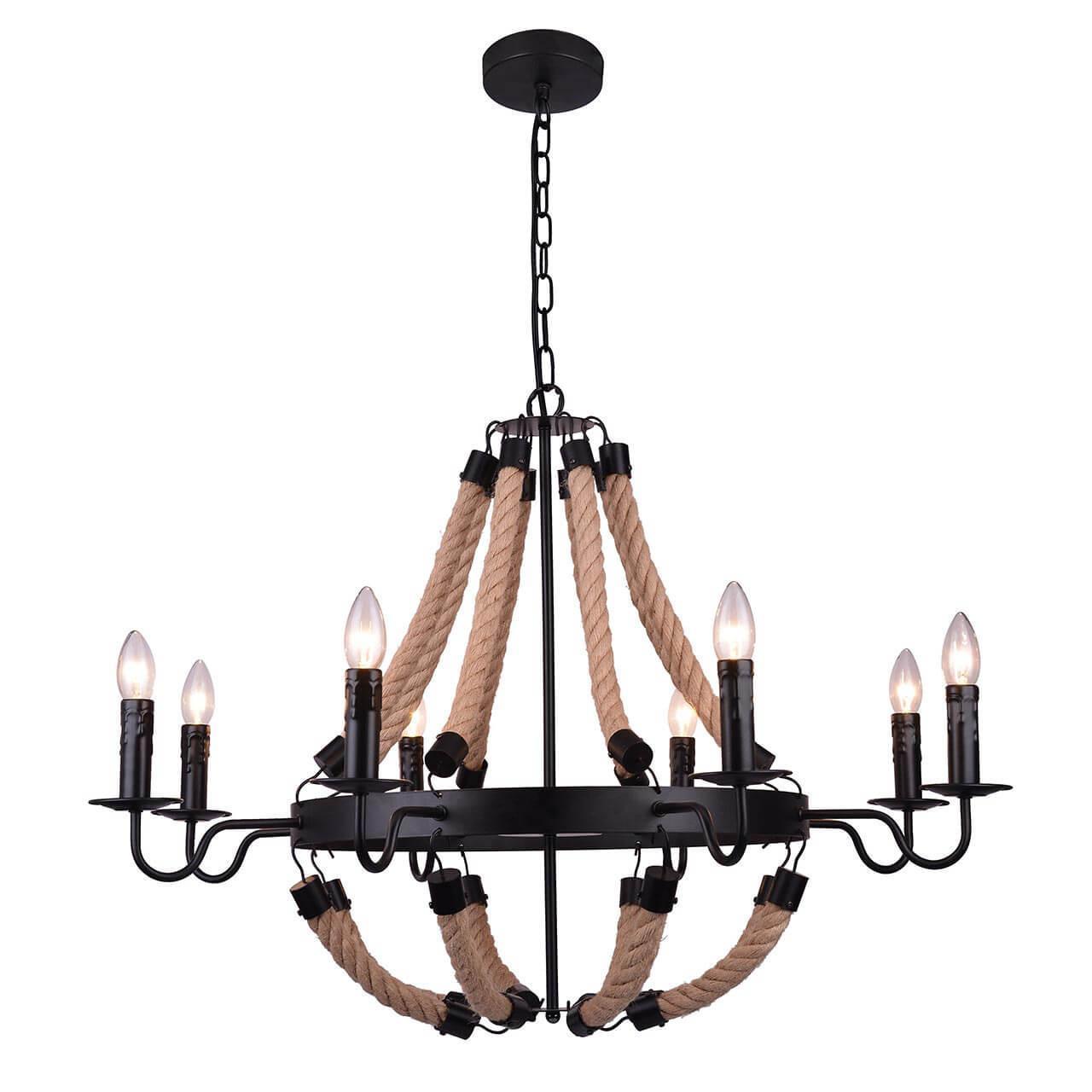 Подвесной светильник Arte Lamp A8956LM-8BK, E14, 40 Вт arte lamp люстра arte lamp a6586lm 8bk