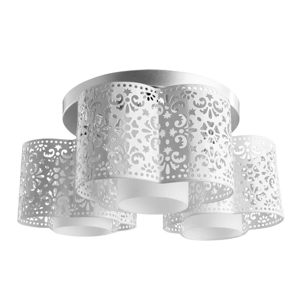 купить Потолочный светильник Arte Lamp A8348PL-3WH, E27, 40 Вт по цене 6300 рублей