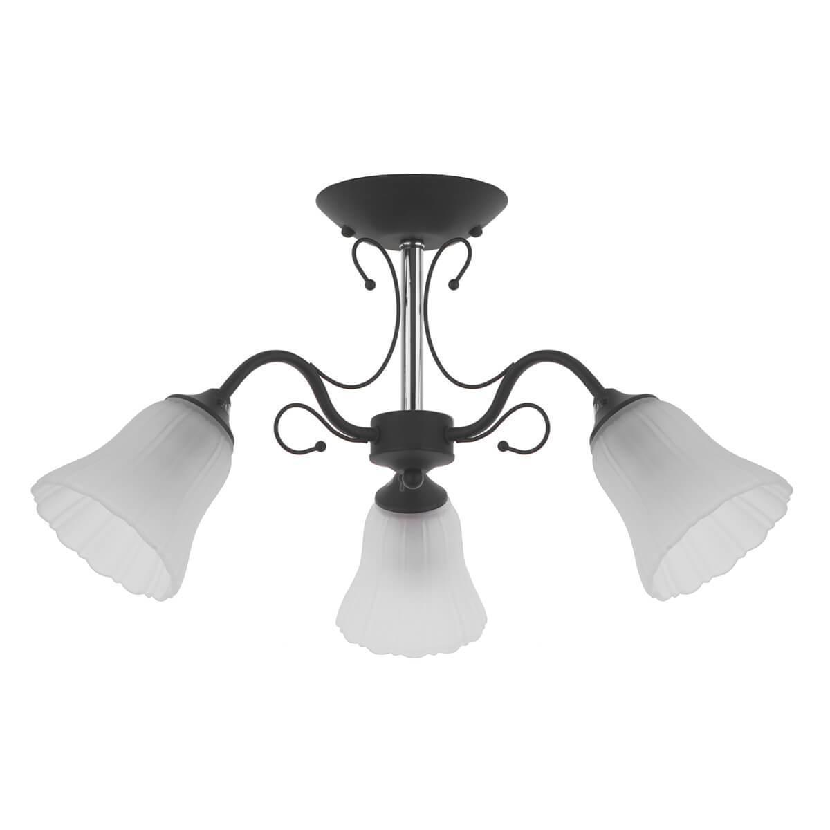 Потолочный светильник IDLamp 872/3PF-Argentoscuro, E27, 60 Вт цена