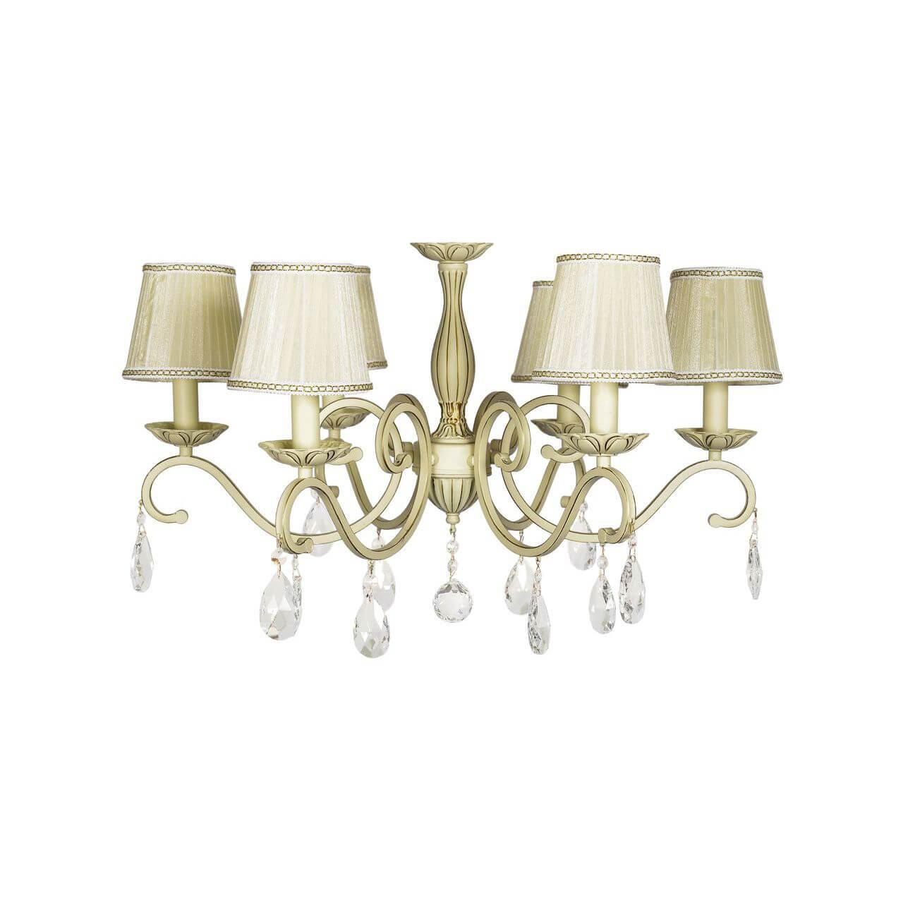 Потолочный светильник Lucia Tucci Bari 370.6 Cream White, E14, 40 Вт потолочная люстра lucia tucci bari 370 8 cream white