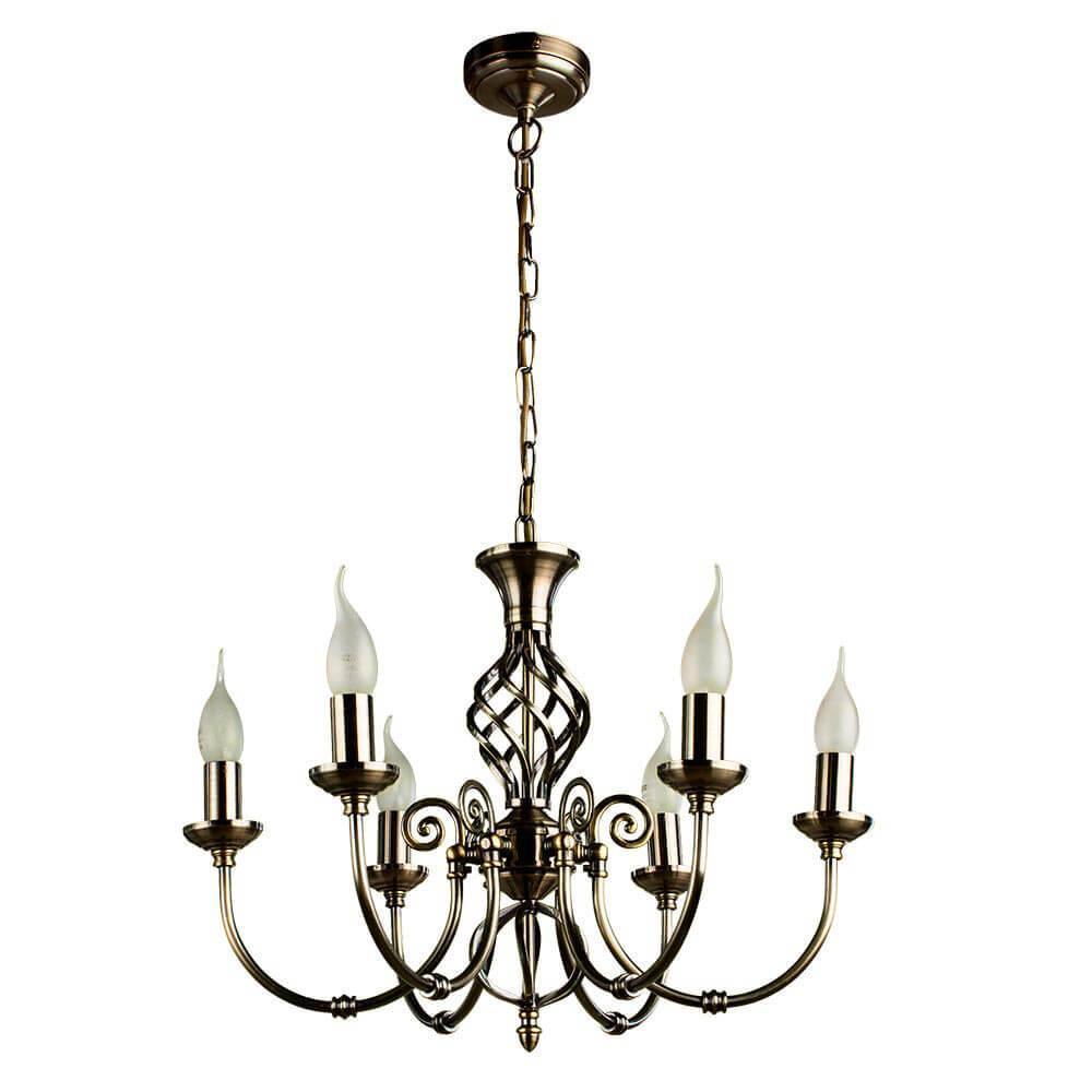 Подвесной светильник Arte Lamp A8392LM-6AB, E14, 60 Вт недорого