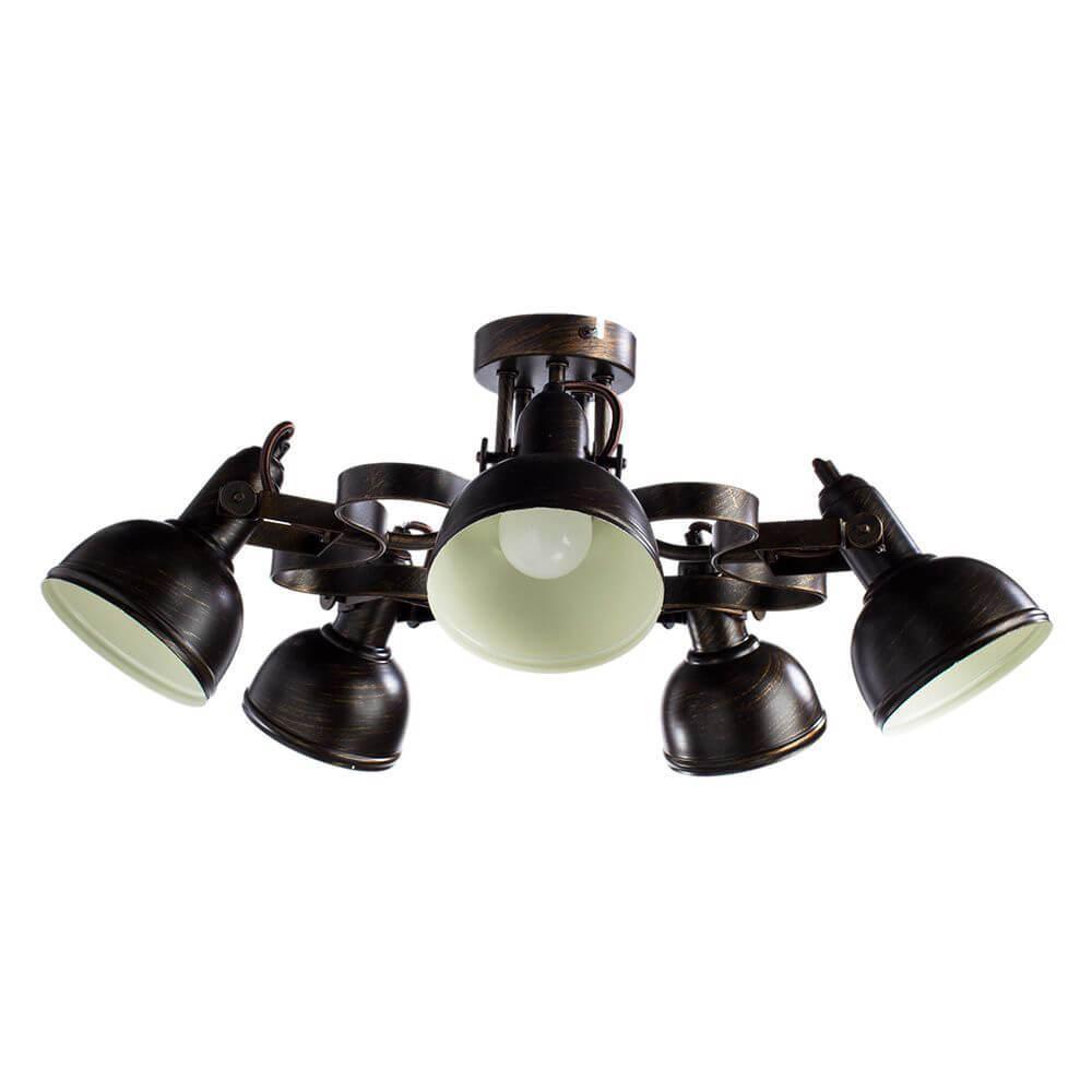 купить Потолочный светильник Arte Lamp A5216PL-5BR, E14, 40 Вт по цене 14650 рублей